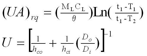 タンク溶液, 保温, コイル蒸気量, 数式