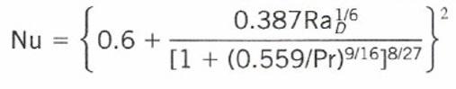自然対流計算式