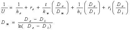 総括伝熱係数 伝熱面積 外径